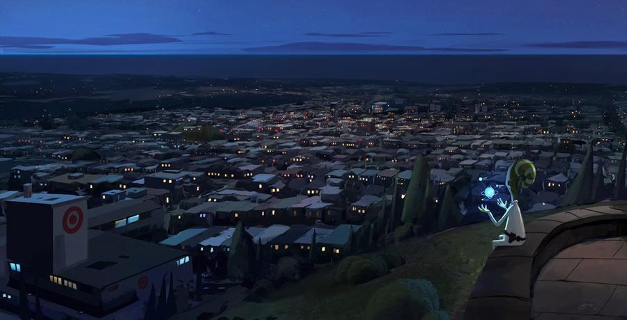 Goro Fujita Looking over the city