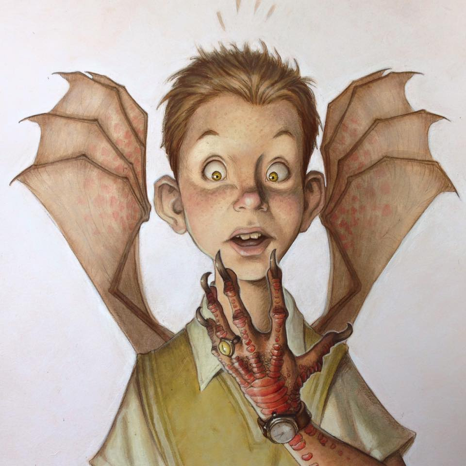 Tony DiTerlizzi Cover to 'The Monster's Ring' by Bruce Coville 2002