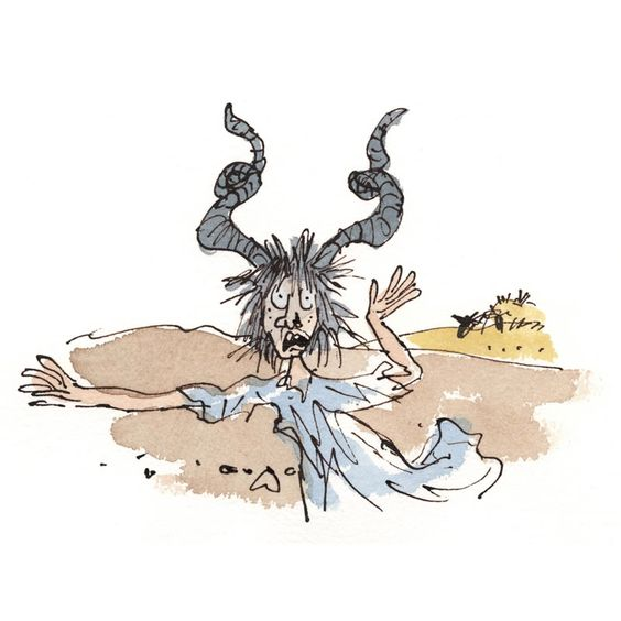 Quentin Blake Poor Girl and her Cow