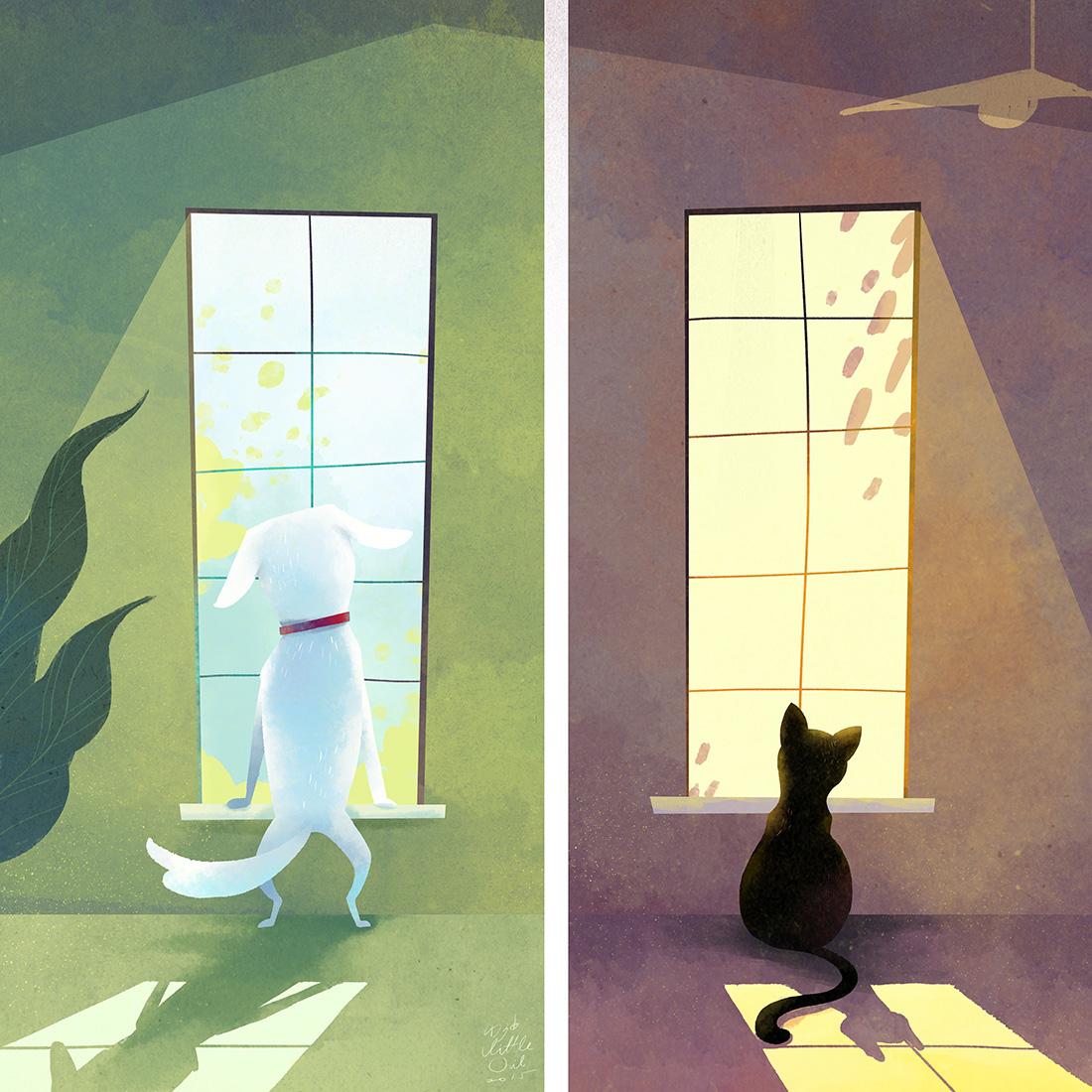 Little Oil Dog & Cat.jpg