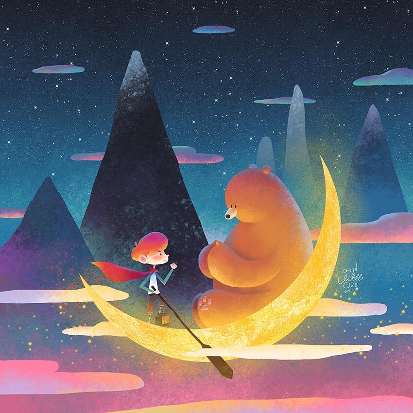 little-oil-moon-boat