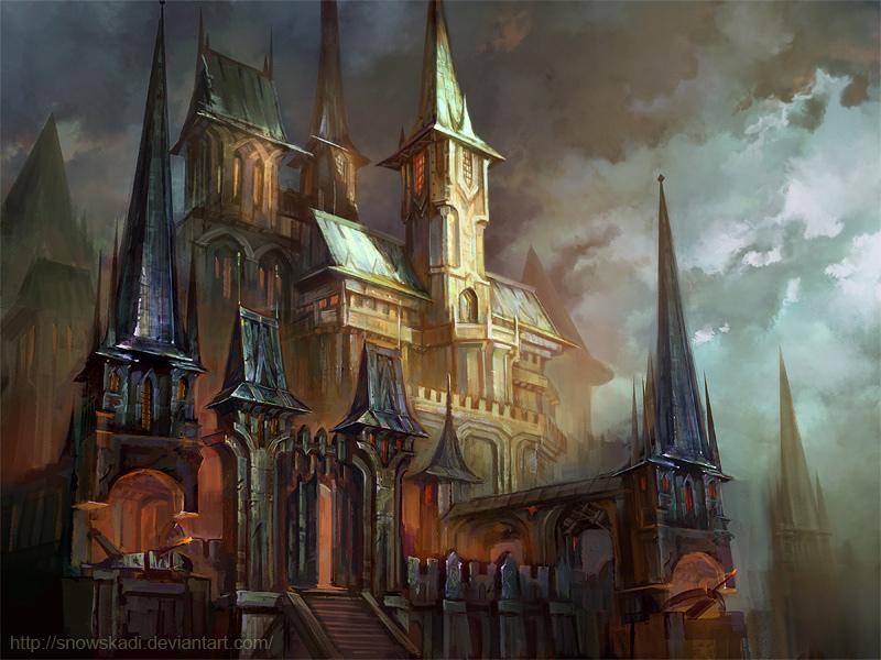 Snowskadi metal castle